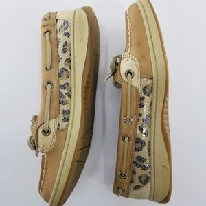 Sperry Top-Sider Leopard Sequin Boat Shoes